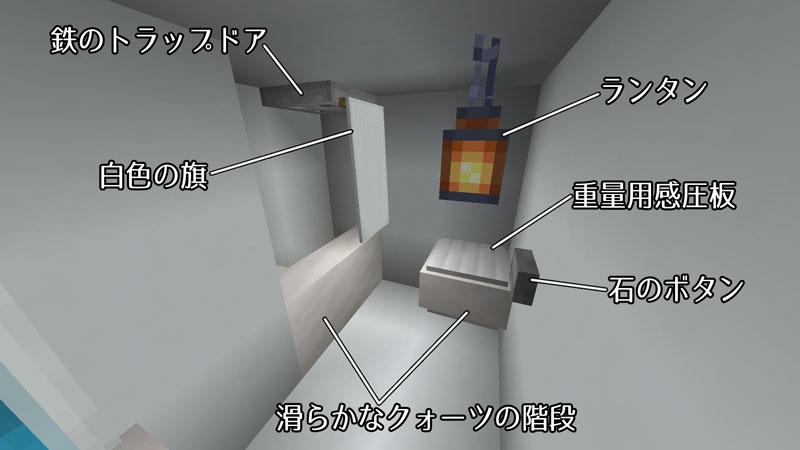 たまご型モダンハウスのバスルーム詳細