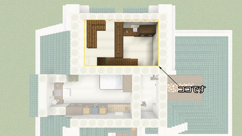 骨ブロックで作るおしゃれな家の間取り・ロフト付き寝室