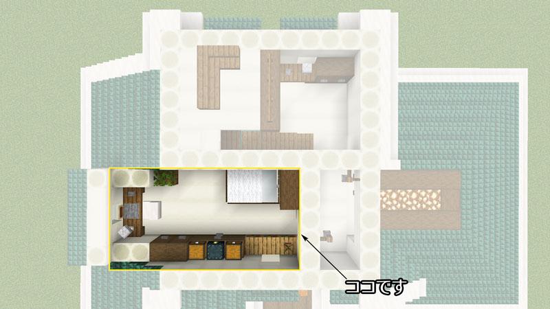 骨ブロックで作るおしゃれな家の間取り・寝室