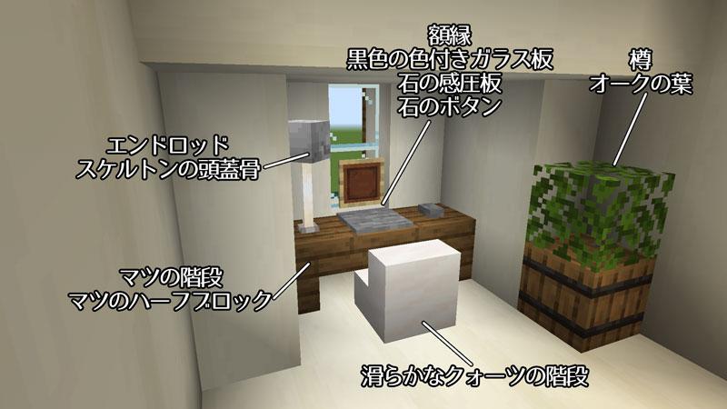 骨ブロックで作るおしゃれな家の寝室の机