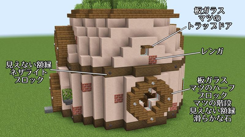 新たまご型モダンハウスの右側外壁の作り方