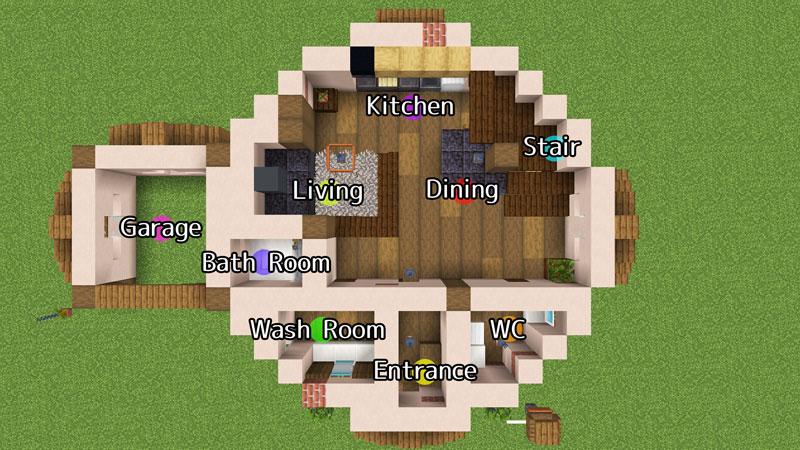 新たまご型モダンハウスの1階間取りのご紹介