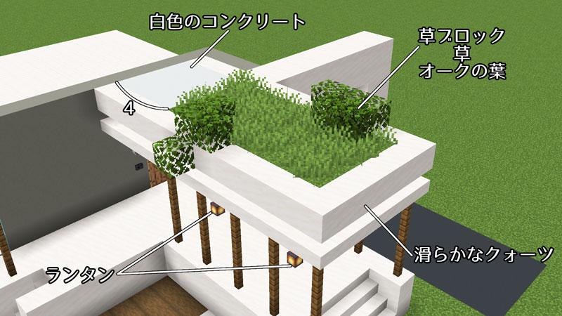豪華なモダンハウスの玄関ポーチの屋根の作り方