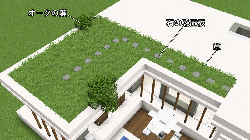 豪華なモダンハウスの1階草屋根