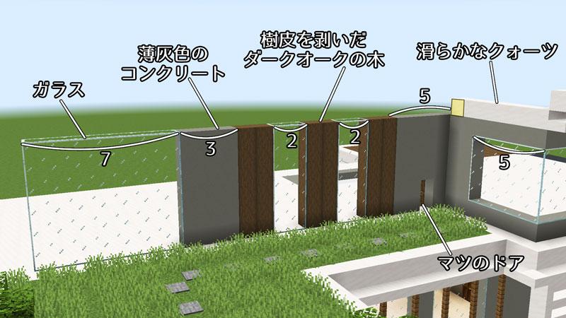 豪華なモダンハウスの2階正面外壁の作り方3