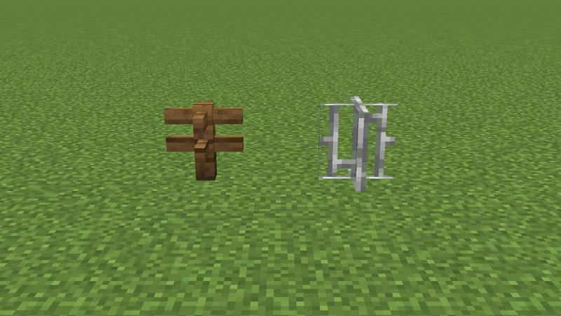 フェンスと鉄格子を十字にした状態