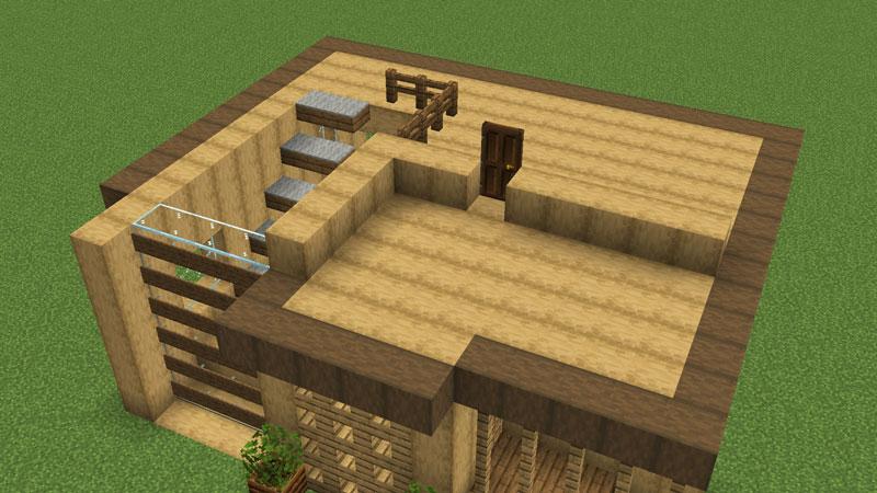 木の温もりがあるモダンな家の1階天井兼2階床