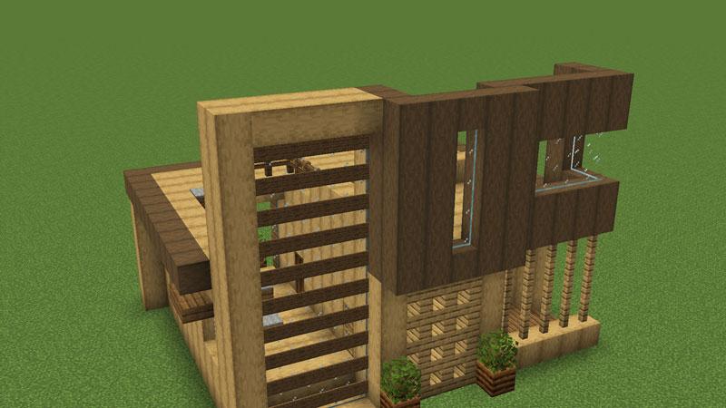 木の温もりがあるモダンな家の2階正面の外壁の作り方2