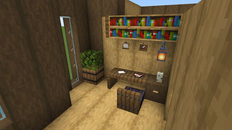 木の温もりがあるモダンな家の寝室の机の作り方