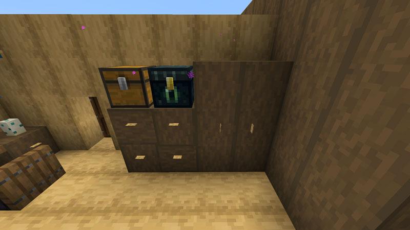 木の温もりがあるモダンな家の寝室の収納の作り方