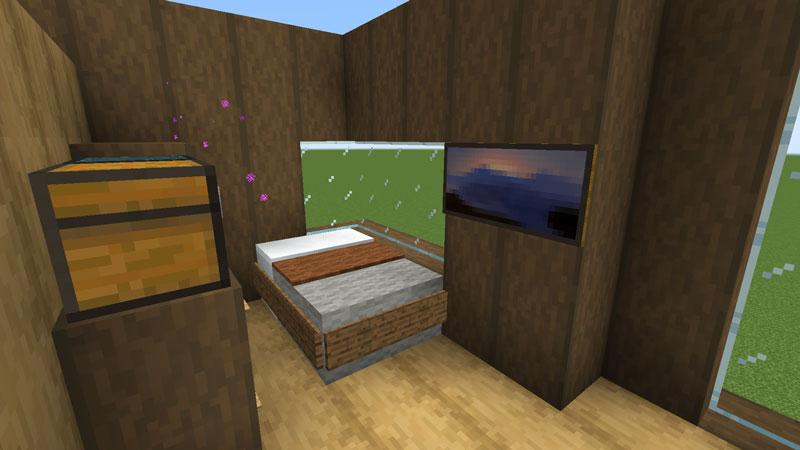 木の温もりがあるモダンな家の寝室のベッドの作り方