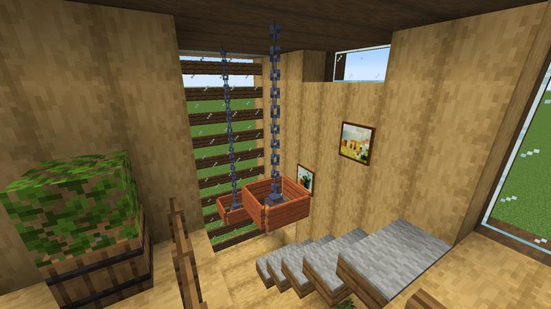 木の温もりがあるモダンな家の階段の照明