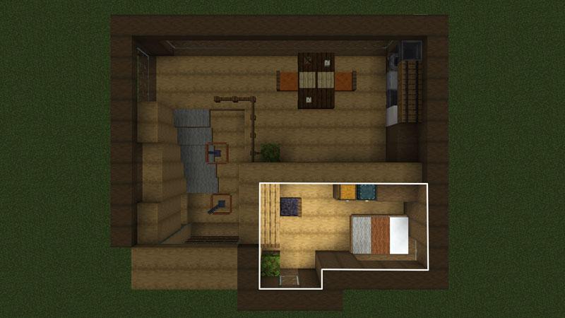 木の温もりがあるモダンな家の間取り:寝室