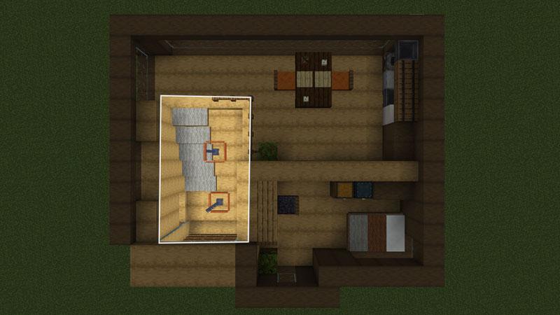 木の温もりがあるモダンな家の間取り:階段