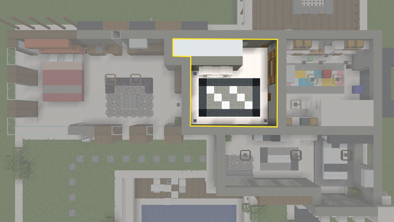豪華なモダンハウスの間取り:2階ホール