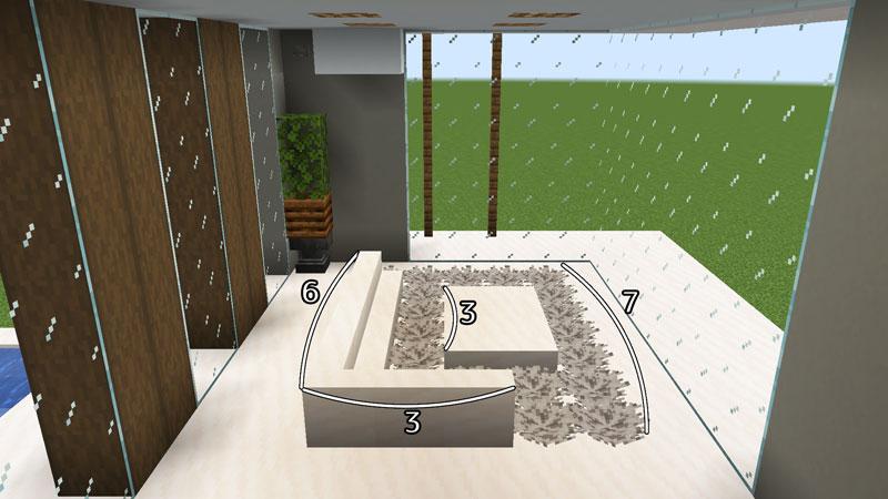 豪華なモダンハウスのリビングの作り方1