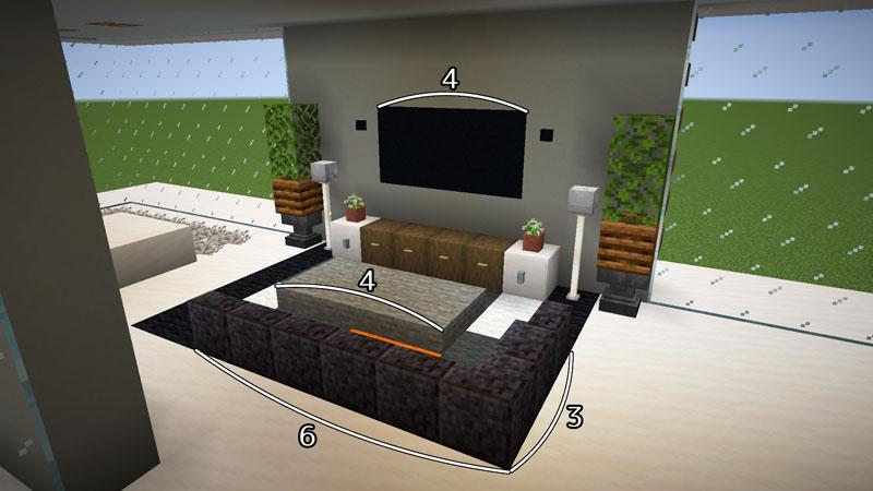 豪華なモダンハウスのリビングの作り方2