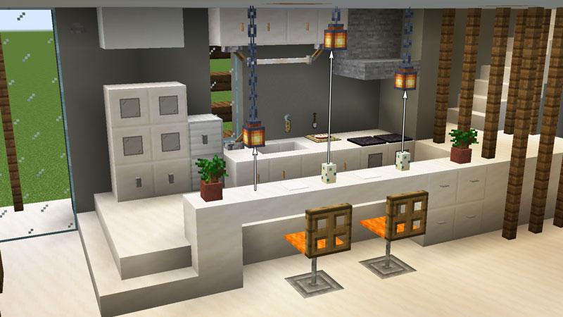 豪華なモダンハウスのキッチンカウンターの作り方