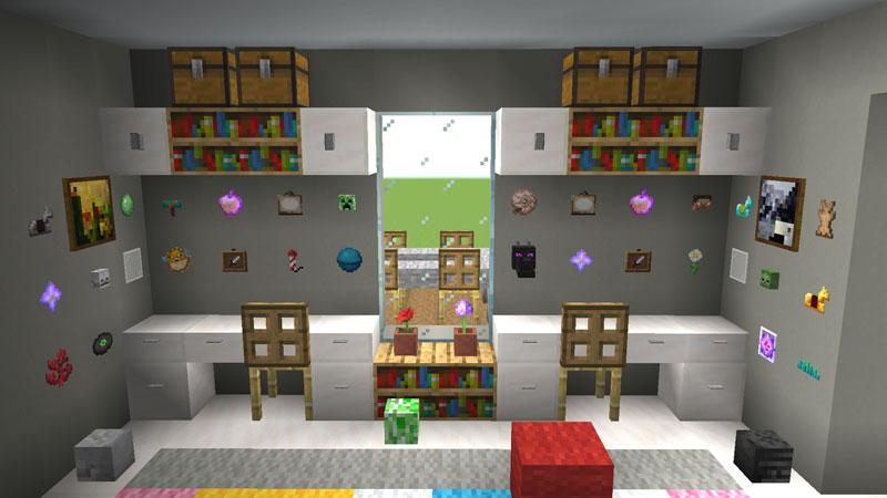 豪華なモダンハウスの子供部屋の机の作り方