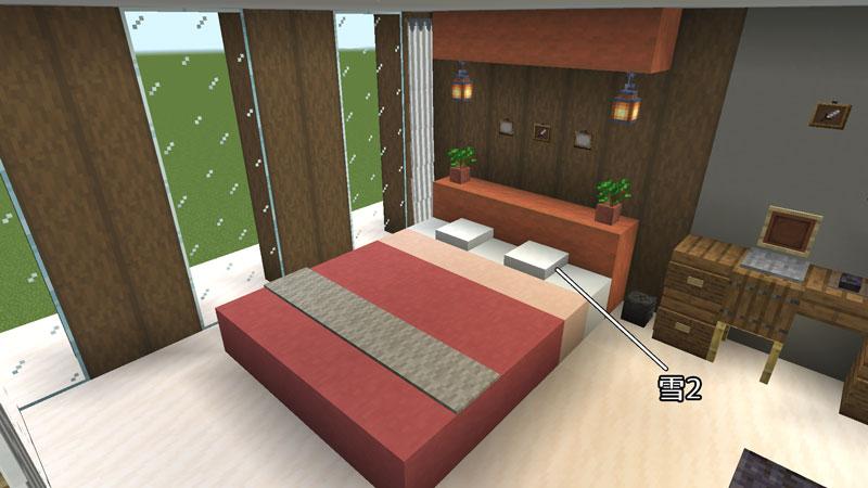 豪華なモダンハウスのベッドルーム3のベッドの作り方