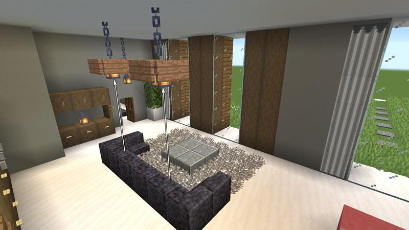 豪華なモダンハウスのベッドルーム3のソファーの作り方