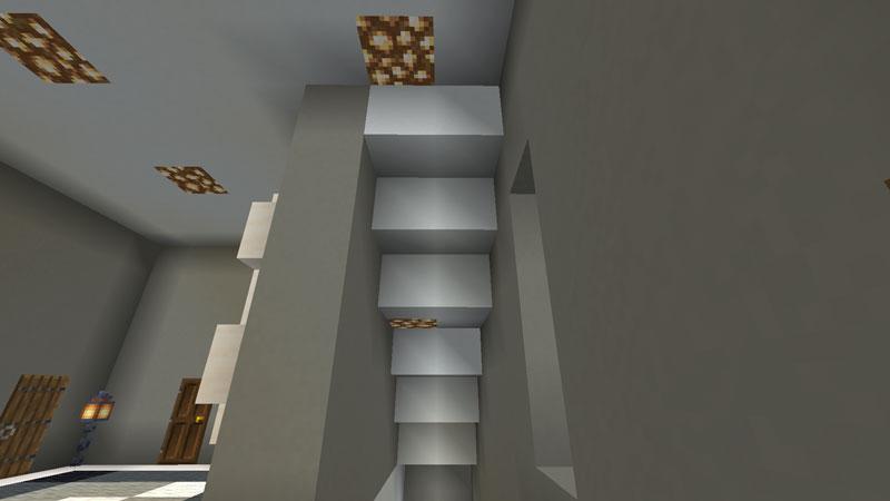 豪華なモダンハウスの階段の天井の作り方