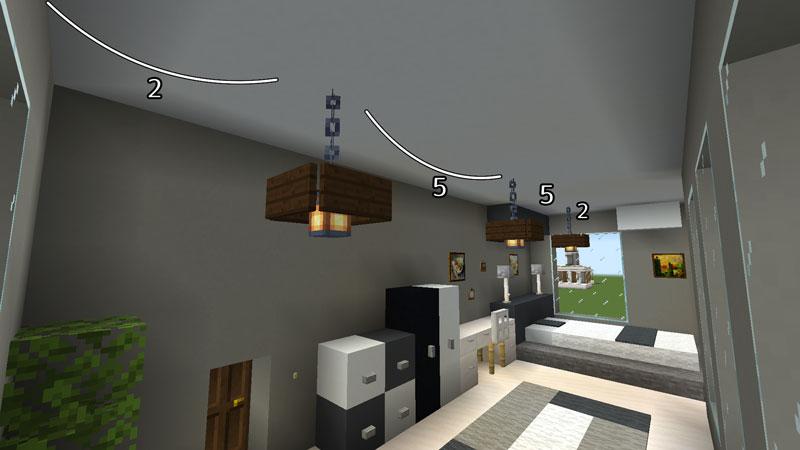 豪華なモダンハウスのベッドルーム1の照明の作り方