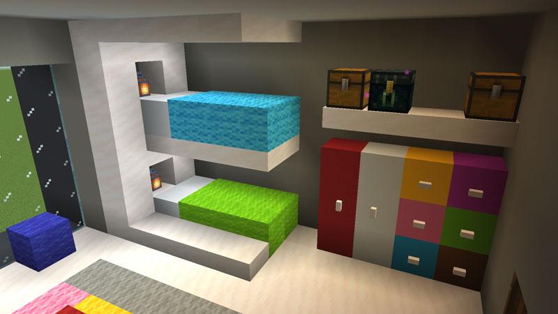 豪華なモダンハウスの子供部屋の2段ベッドの作り方1