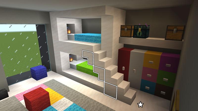 豪華なモダンハウスの子供部屋の2段ベッドの作り方2
