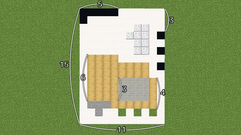 超コンパクトモダンハウスの土台の作り方