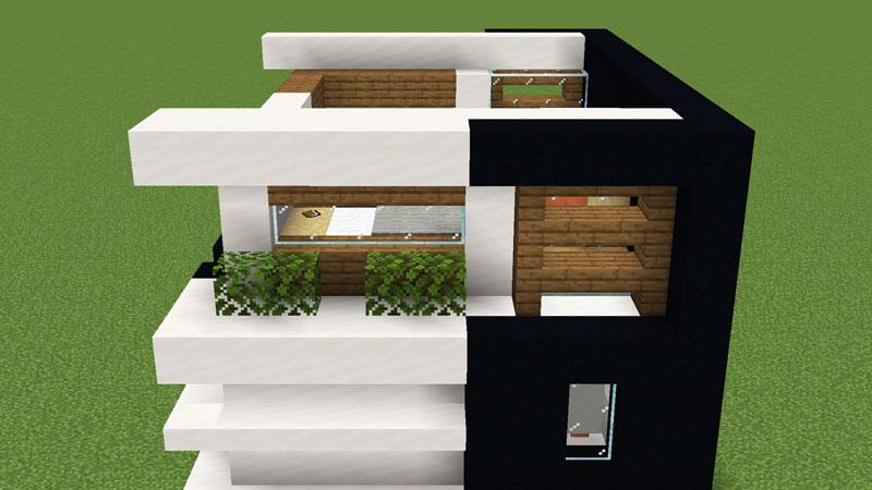 超コンパクトモダンハウスの2階裏側の外壁の作り方