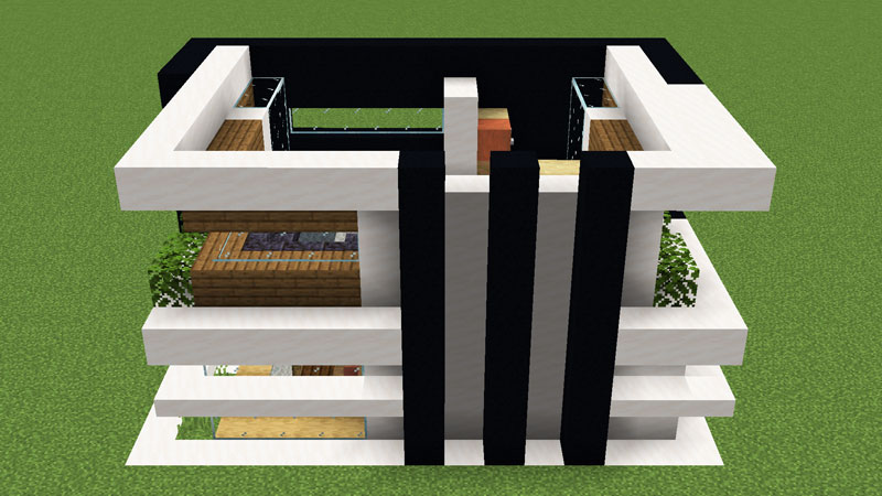 超コンパクトモダンハウスの2階右側外壁の作り方