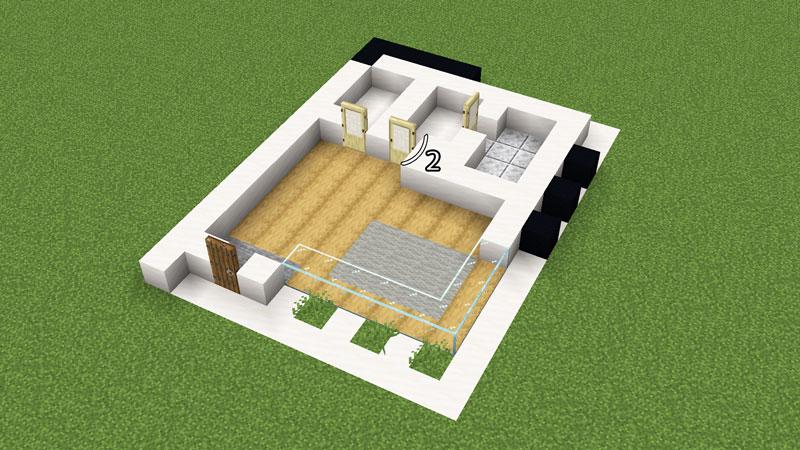 超コンパクトモダンハウスの1階間取りの作り方