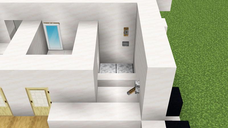 超コンパクトモダンハウスのバスルームの作り方