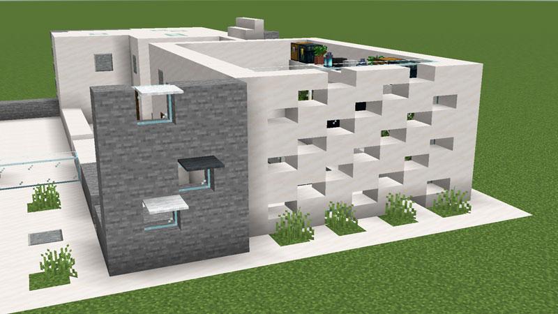 ハーフブロックでおしゃれに魅せるモダンハウスの1階正面の外壁の作り方