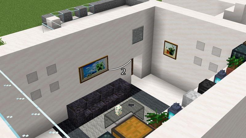 ハーフブロックでおしゃれに魅せるモダンハウスのリビングルームの飾り方