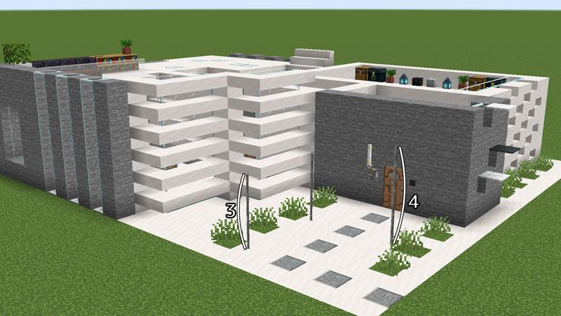 ハーフブロックでおしゃれに魅せるモダンハウスの1階外壁と玄関屋根の作り方