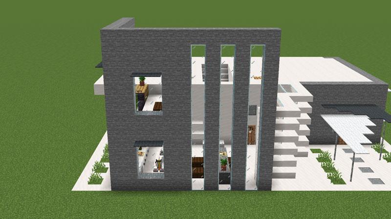 ハーフブロックでおしゃれに魅せるモダンハウスの2階キッチン外壁の作り方