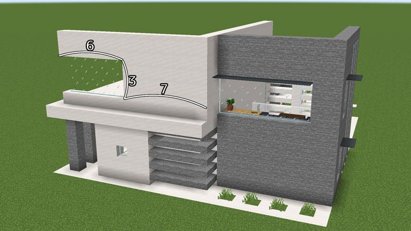 ハーフブロックでおしゃれに魅せるモダンハウスの2階裏側外壁の作り方