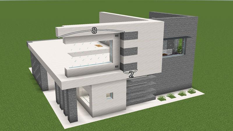 ハーフブロックでおしゃれに魅せるモダンハウスのベッドルーム2の壁の作り方