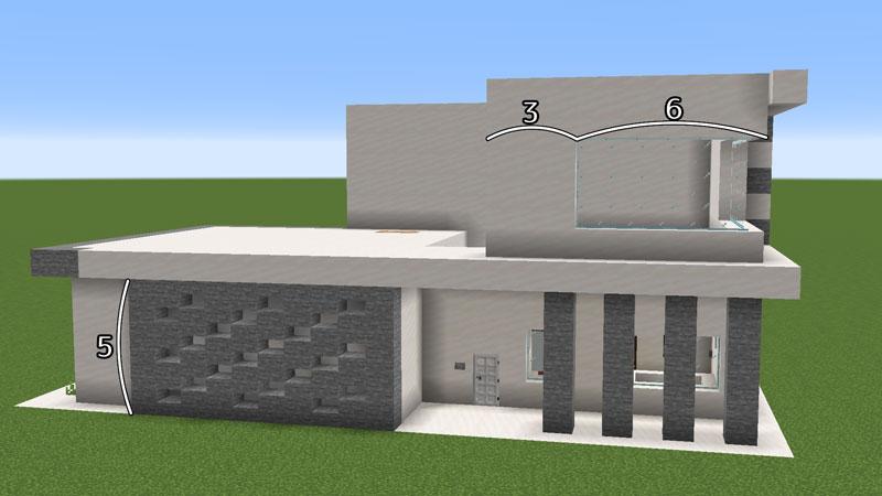 ハーフブロックでおしゃれに魅せるモダンハウスの2階ベッドルーム2階の作り方2