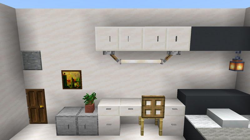 ハーフブロックでおしゃれに魅せるモダンハウスのベッドルーム2の机の作り方