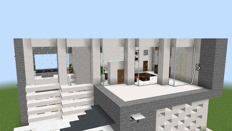 ハーフブロックでおしゃれに魅せるモダンハウスの2階正面の外壁の作り方