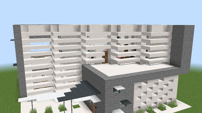 ハーフブロックでおしゃれに魅せるモダンハウスの2階正面外壁のの飾り方