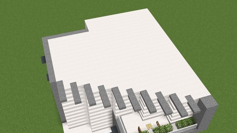 ハーフブロックでおしゃれに魅せるモダンハウスの2階天井兼屋根の作り方