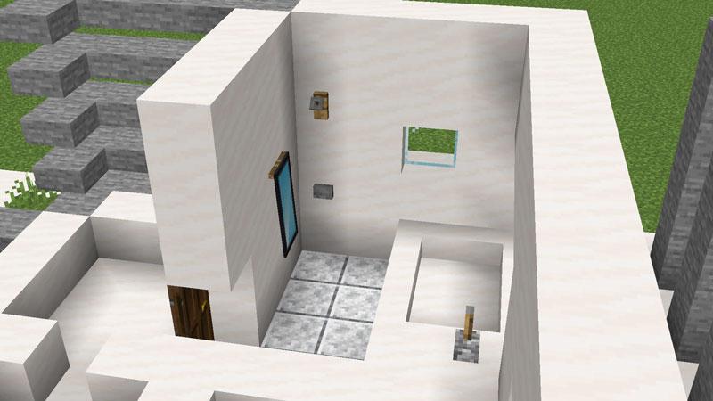 ハーフブロックでおしゃれに魅せるモダンハウスのお風呂の作り方