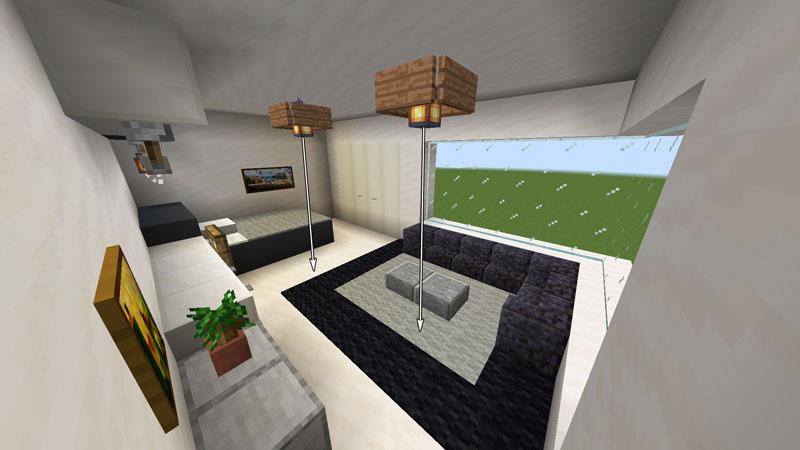 ハーフブロックでおしゃれに魅せるモダンハウスのベッドルーム2の照明の作り方