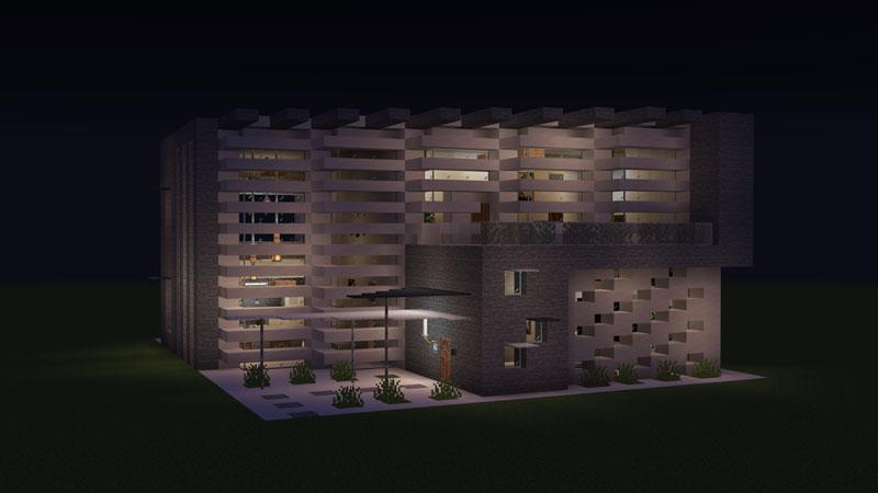 ハーフブロックでおしゃれに魅せるモダンハウスの夜の光り方