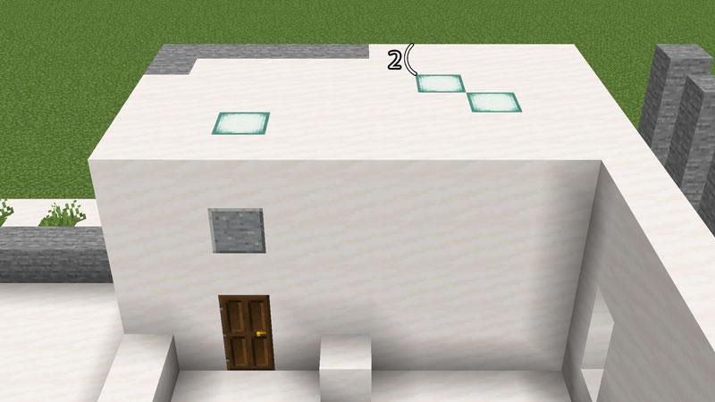 ハーフブロックでおしゃれに魅せるモダンハウスのバスルームとパウダールームの天井の作り方