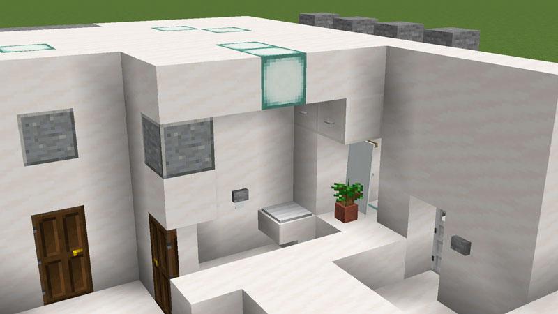 ハーフブロックでおしゃれに魅せるモダンハウスのトイレの作り方